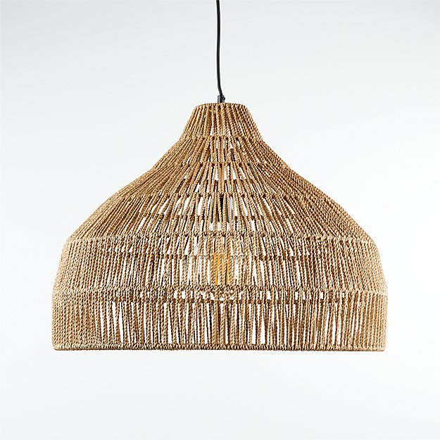 Cabo Large Woven Pendant Light - Image 1 of 10