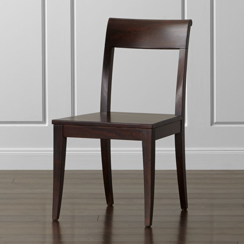 Dark Wood Dining Room Chairs rustic table mixing wood tones remodelaholic Cabria Dark Wood Dining Chair Crate And Barrel