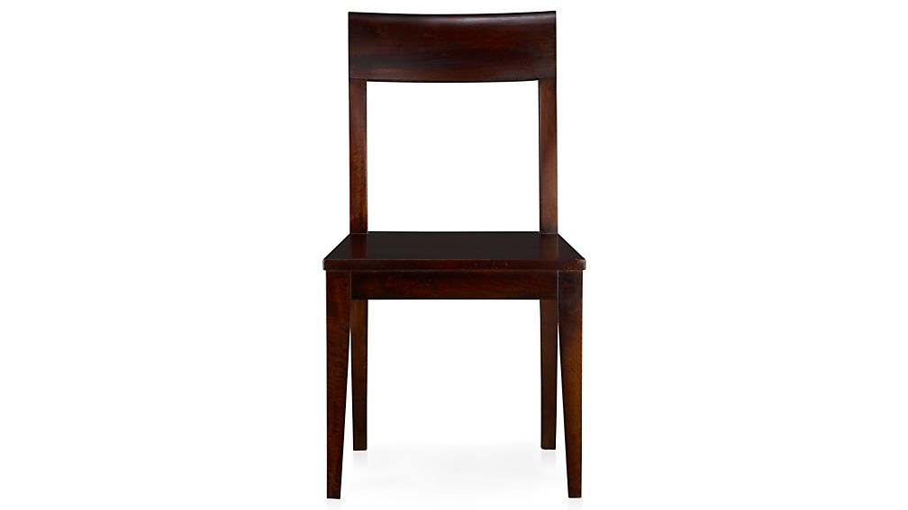 Cabria Dark Wood Dining Chair And Cushion Crate Barrel
