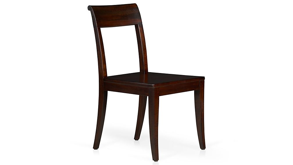 Cabria dark wood dining chair crate and barrel - Crate and barrel parsons chair ...