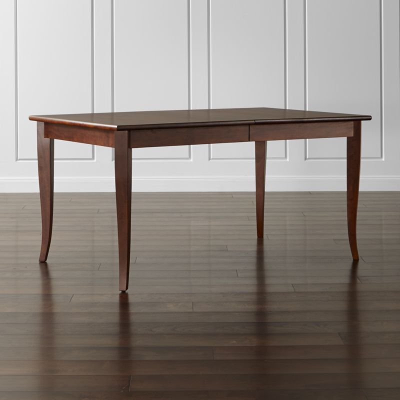 Shop Dining Room Kitchen Tables Crate And Barrel - Light wood extending dining table