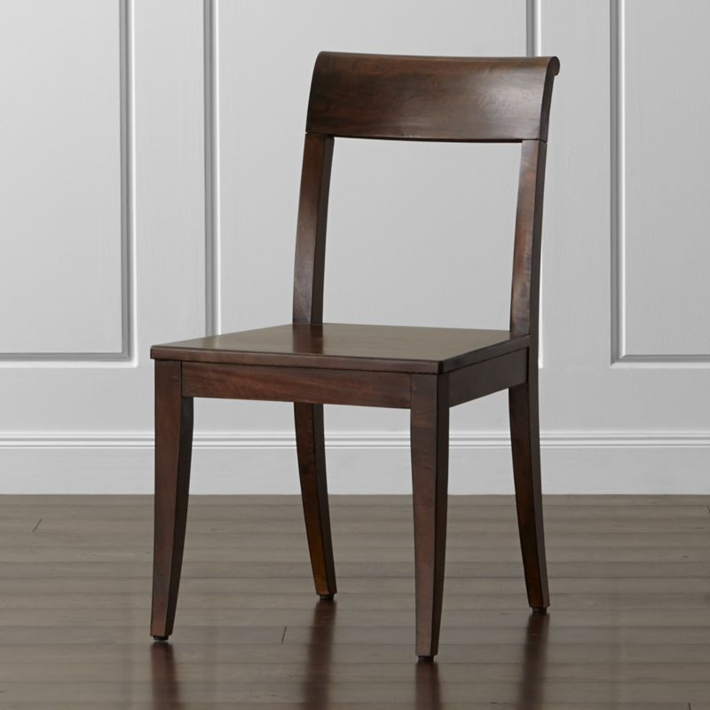 wooden dining room chairs. Cabria Honey Brown Wood Dining Chair Room Furniture  Crate and Barrel