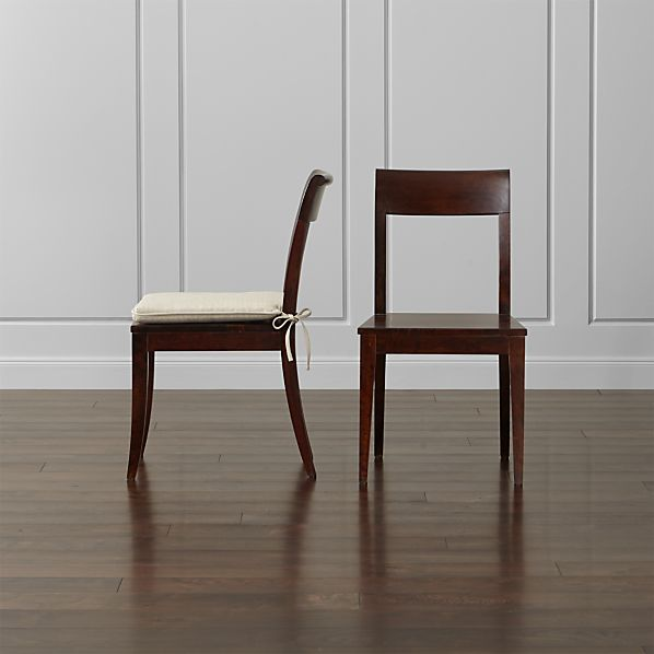 Cabria Dark Wood Dining Chair and Cushion