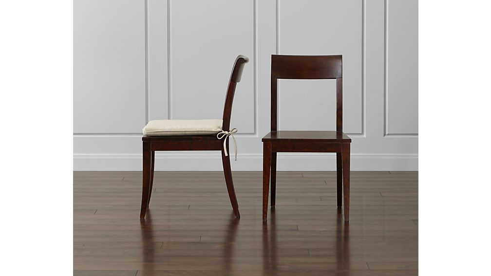 Cabria dark wood dining chair in chairs reviews
