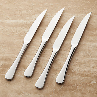 Caesna Mirror Steak Knives, Set of 4