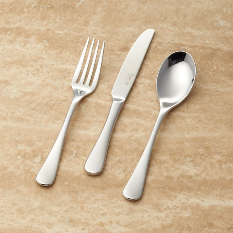 Caesna Mirror Childrenu0027s 3 Piece Flatware Place Setting + Reviews | Crate  And Barrel