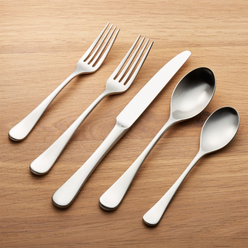 Caesna Satin 20 Piece Flatware Set Reviews Crate And Barrel
