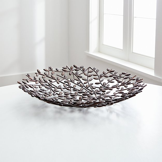 Caley iron centerpiece bowl crate and barrel - Kitchen table centerpiece bowls ...