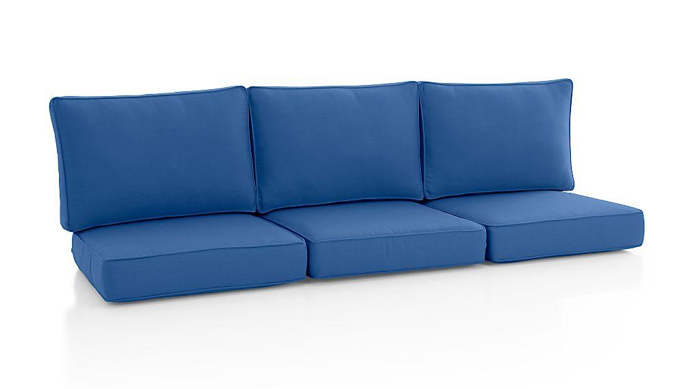 Calistoga SunbrellaMediterranean Blue Sofa CushionsCrate and