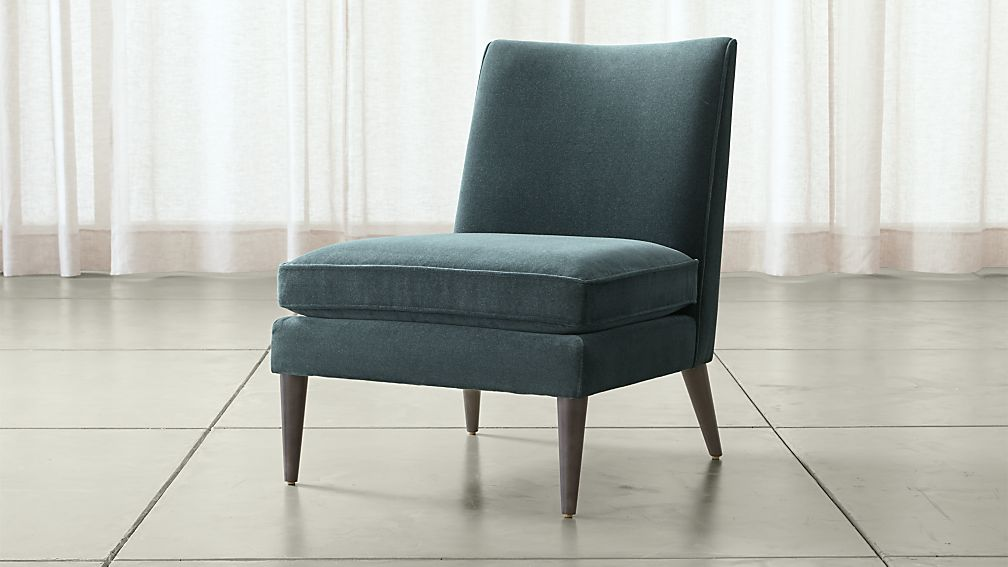 callie chair callie chair - Blue Velvet Chair
