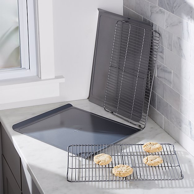 Calphalon ® 4-Piece Cookie Sheet and Cooling Rack Set - Image 1 of 2