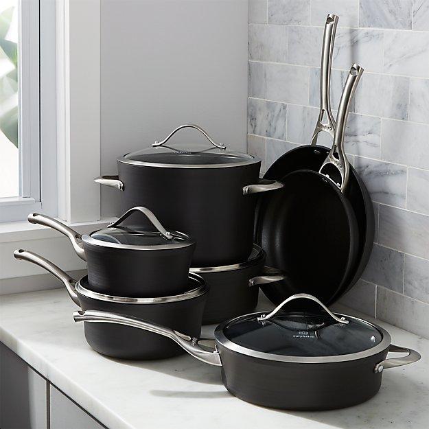 calphalon contemporary non-stick 12-piece cookware set with double