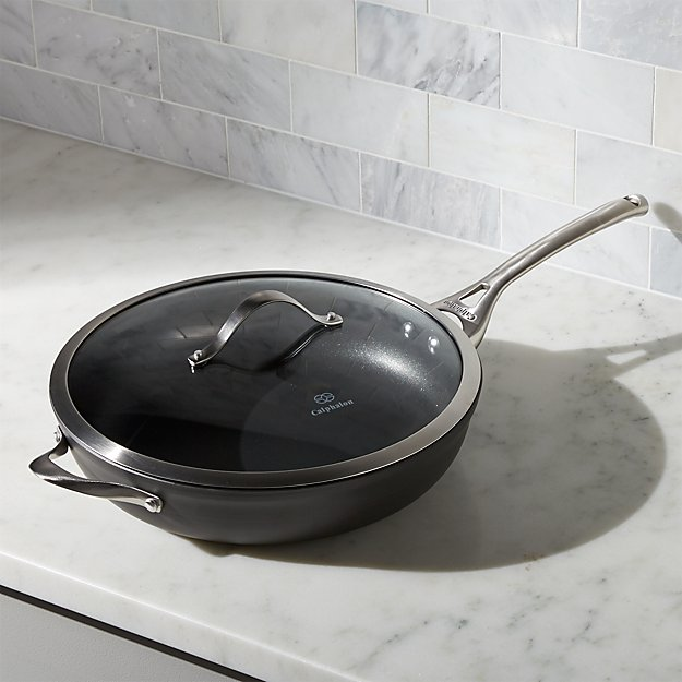 """Calphalon Contemporary ™ Non-Stick 13"""" Deep Skillet with Lid - Image 1 of 3"""