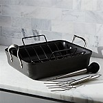 "Calphalon Contemporary â""¢ Non-Stick Roaster with Lifters and Baster"