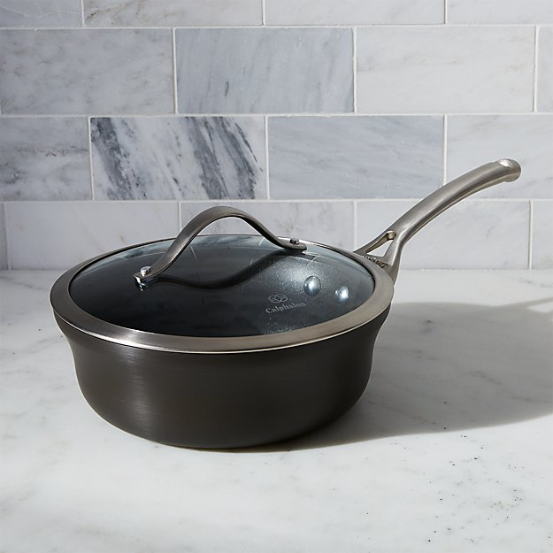 Calphalon Contemporary Non Stick 2 5 Qt Shallow Saucepan