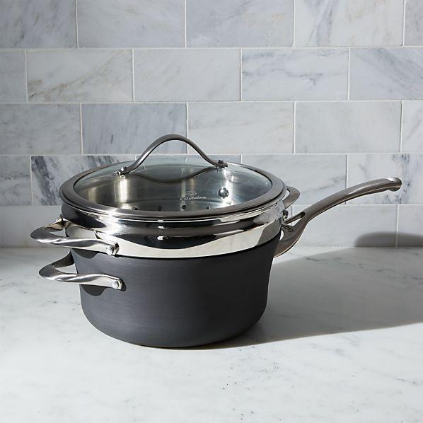 Calphalon Contemporary ™ Non-Stick 4.5-qt. Saucepan with Steamer