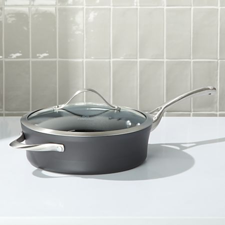 Awesome Calphalon 3 Qt Contemporary Non Stick Saute Pan With Lid Home Remodeling Inspirations Genioncuboardxyz