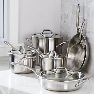 Calphalon ® Signature Stainless Steel 10-Piece Cookware Set with Double Bonus