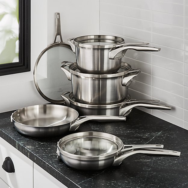 Calphalon ® Premier Stainless Steel Space-Saving 10-Piece Cookware Set - Image 1 of 2