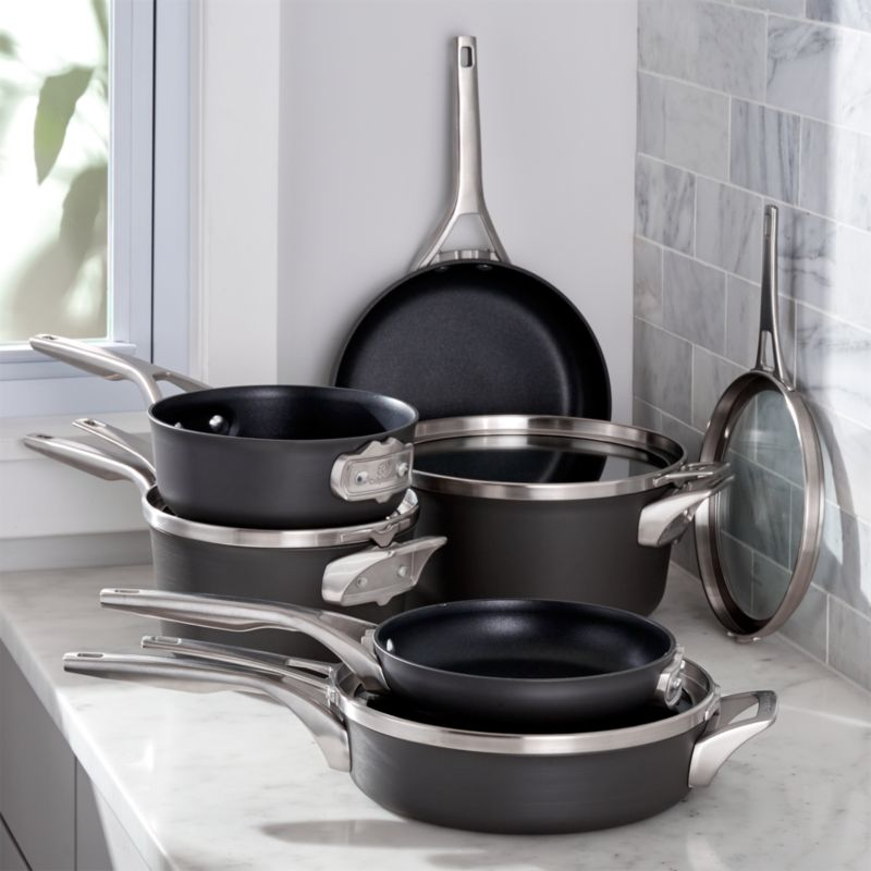 Calphalon Stackable 10 Piece Cookware Reviews Crate