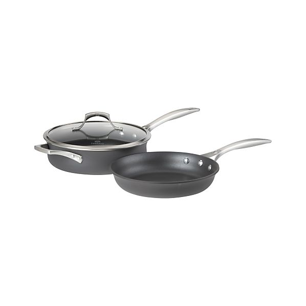 3-Piece Calphalon ® Unison ™ Sear Nonstick Saute Pan with Lid and Slide Nonstick Frypan Set