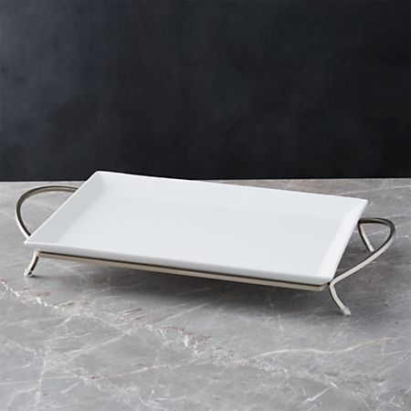 Cambridge Rectangular Serving Platter With Stand