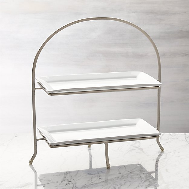 Cambridge 2 Tier Server With Plates Reviews Crate And Barrel