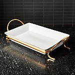 Cambridge 13.75  Gold Baking Dish with Rack