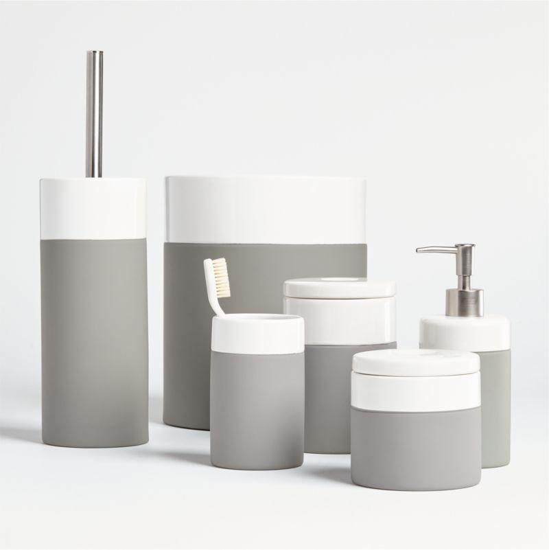Camden Ceramic Bath Accessories Crate