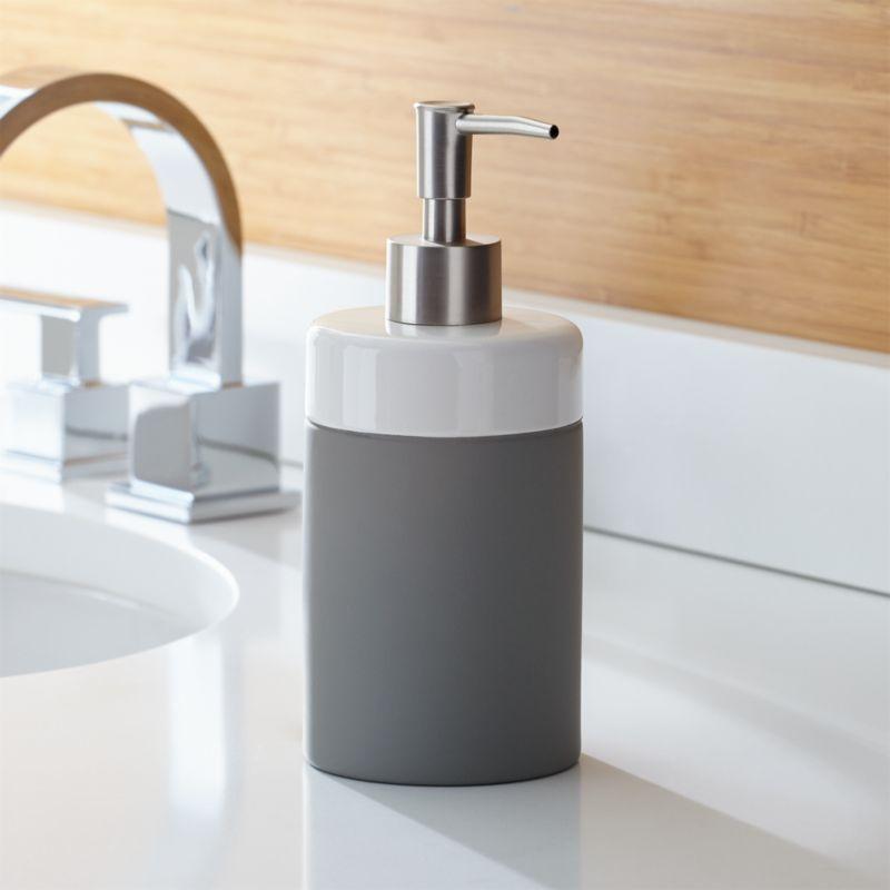 soap dispensers crate and barrel - Bathroom Soap Dispenser