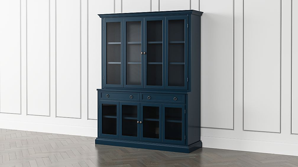 Cameo Indigo 2-Piece Entertainment Center with Glass Door - Image 1 of 5