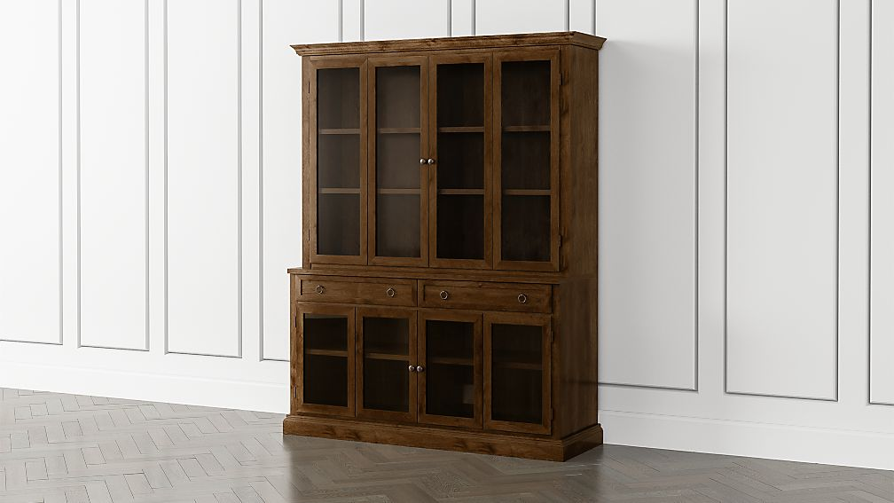 Cameo Nero Noce 2-Piece Entertainment Center with Glass Door - Image 1 of 5