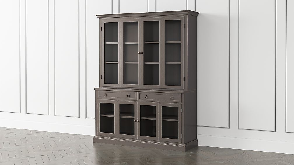 Cameo Grigio 2-Piece Entertainment Center with Glass Door - Image 1 of 5
