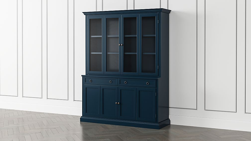 Cameo Indigo 2-Piece Entertainment Center with Wood and Glass Doors - Image 1 of 5