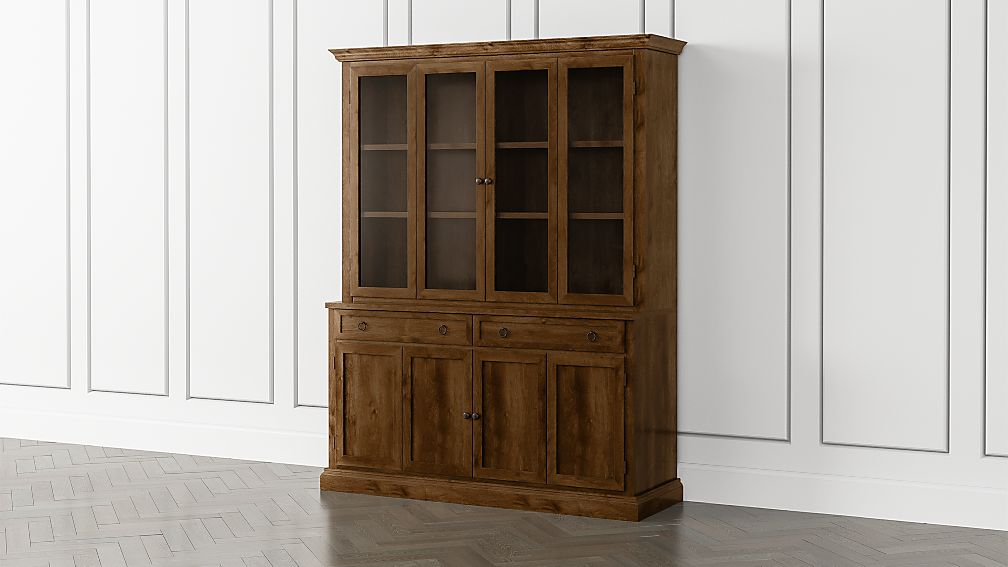 Cameo Nero Noce 2-Piece Entertainment Center with Wood and Glass Doors - Image 1 of 5