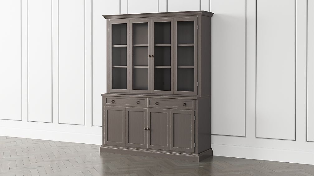 Cameo Grigio 2-Piece Entertainment Center with Wood and Glass Doors - Image 1 of 5