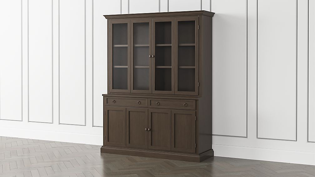 Cameo Pinot Lancaster 2-Piece Entertainment Center with Wood and Glass Doors - Image 1 of 5