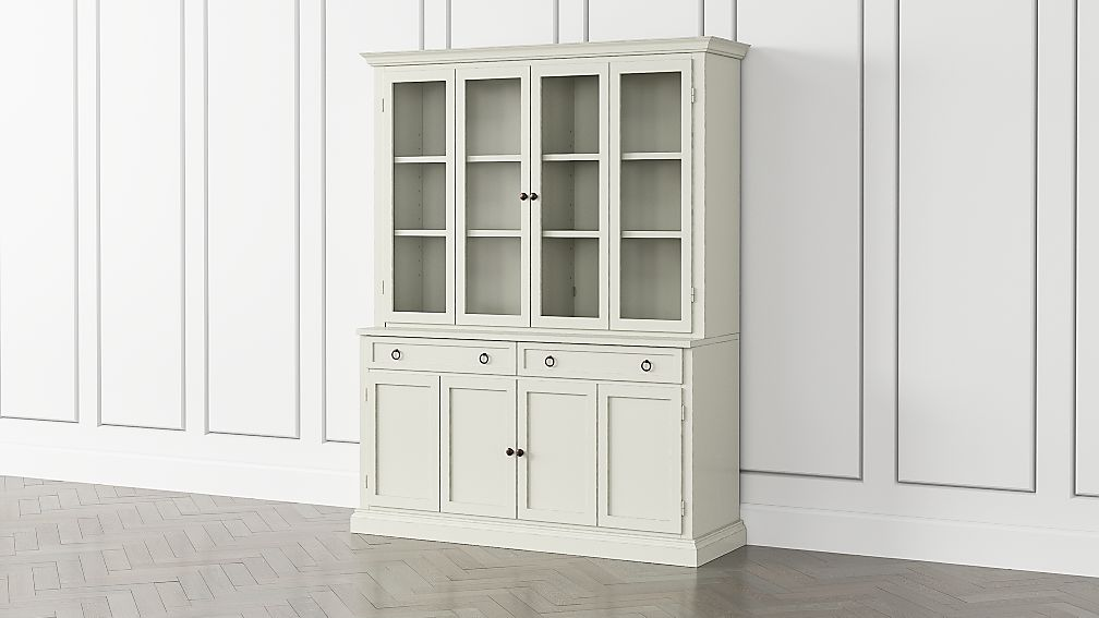 Cameo Vamelie 2-Piece Entertainment Center with Wood and Glass Doors - Image 1 of 5