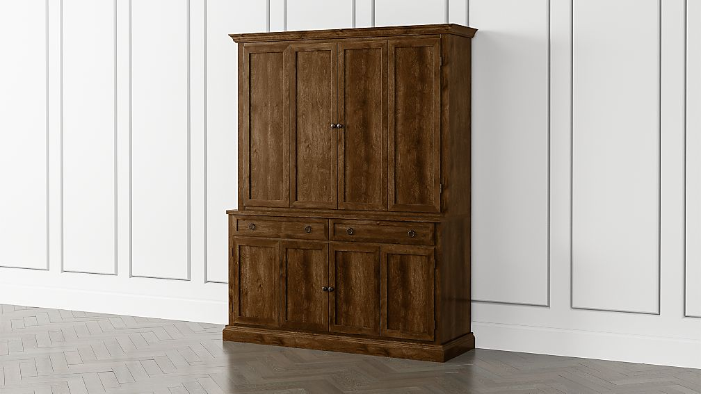 Cameo Nero Noce 2-Piece Entertainment Center with Wood Doors - Image 1 of 4