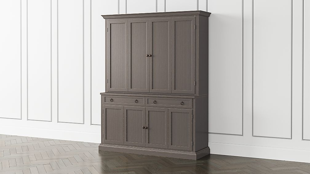 Cameo Grigio 2-Piece Entertainment Center with Wood Doors - Image 1 of 4