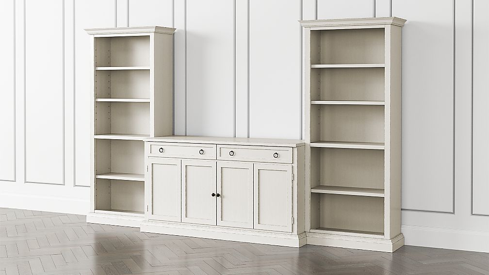 Cameo Dama 3-Piece Entertainment Center with Open Bookcases - Image 1 of 5