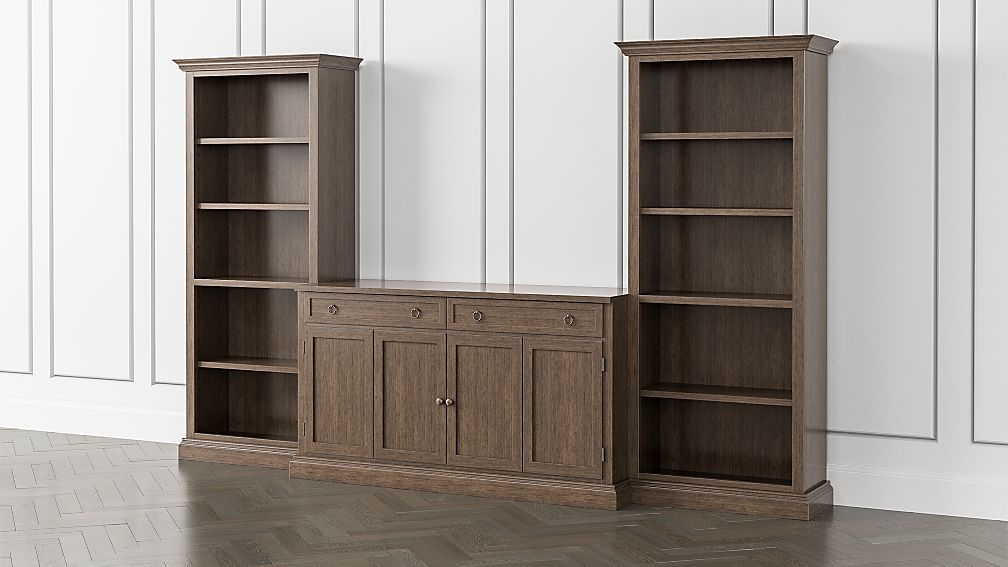 Cameo Pinot Lancaster 3-Piece Entertainment Center with Open Bookcases - Image 1 of 5