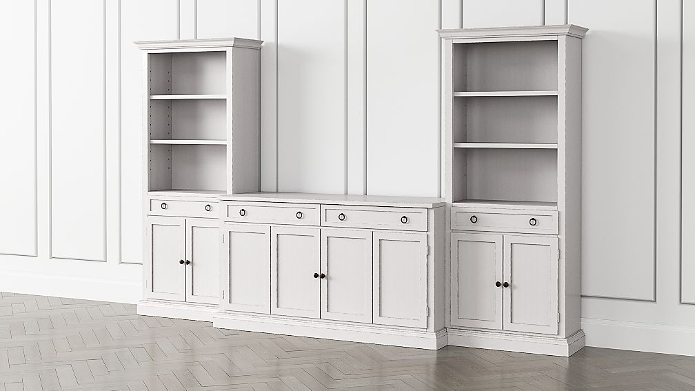 Cameo Dama 3-Piece Entertainment Center with Storage Bookcases - Image 1 of 5