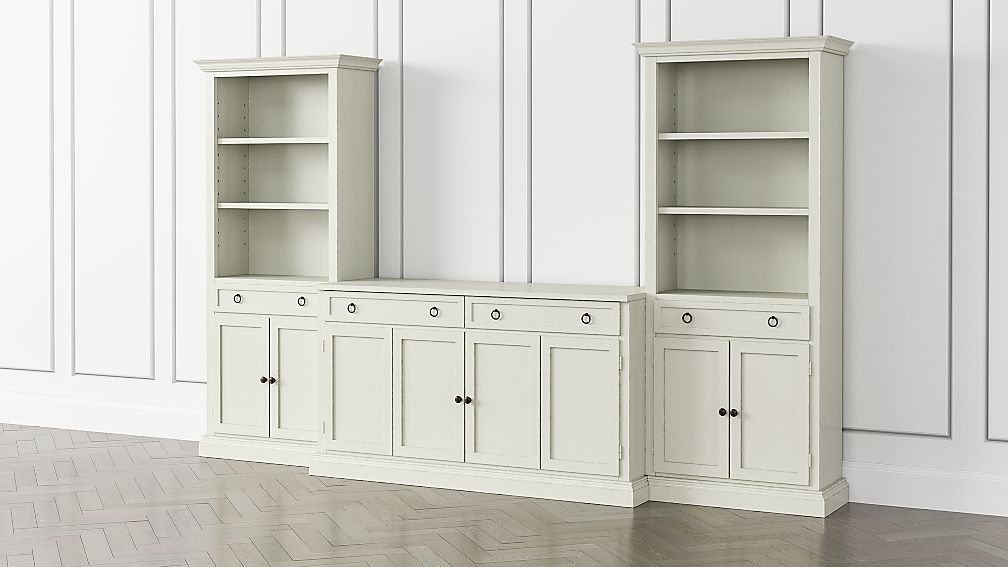 Cameo Vamelie 3-Piece Entertainment Center with Storage Bookcases - Image 1 of 5
