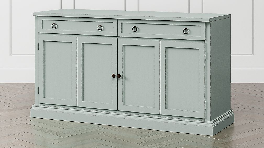 "Cameo 62"" Blue Grey Modular Media Console - Image 1 of 6"