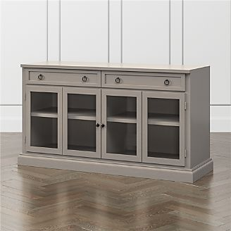 Cameo Pinot Grigio 62 Modular Media Console With Gl Doors