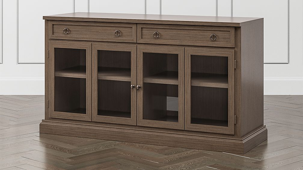 """Cameo Pinot Lancaster 62"""" Modular Media Console with Glass Doors - Image 1 of 6"""