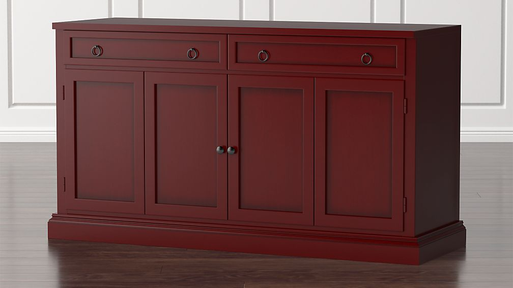 """Cameo 62"""" Red Modular Media Console - Image 1 of 5"""