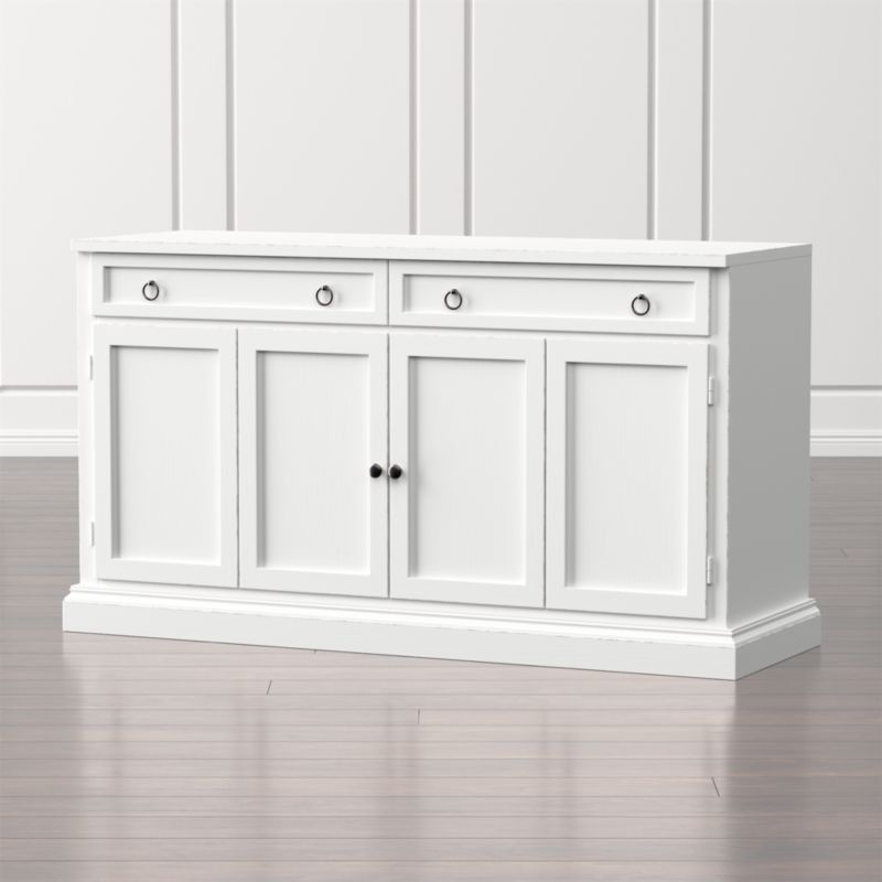 Cameo 62 white modular media console in tv stands media White media console