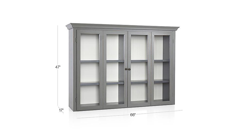 Cameo Grey Modular Hutch With Glass Doors Reviews Crate And Barrel